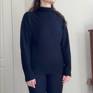 Uniqlo Black Mock Neck Sweater